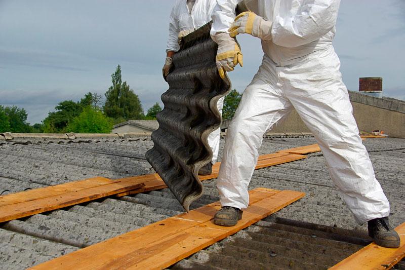 trabajos de retirada de amianto