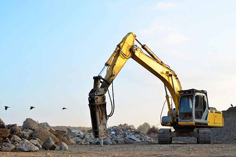 Martillos hidráulicos en trabajos de demolición